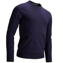 Men's Golf Mild Weather Crew Neck Pullover - Navy