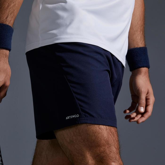網球短褲Dry 100-海軍藍