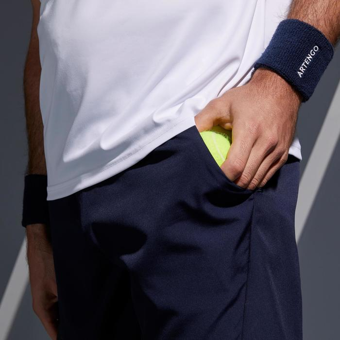 Tennisshort TSH 100 Dry marineblauw