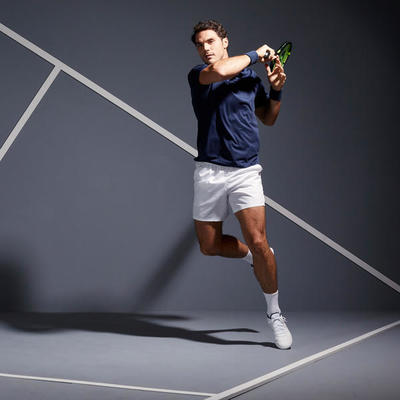 POLO TENNIS HOMME DRY 100 MARINE