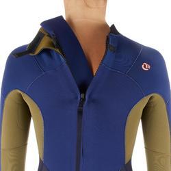Fullsuit voor dames 3/2 500 ritssluiting op de rug
