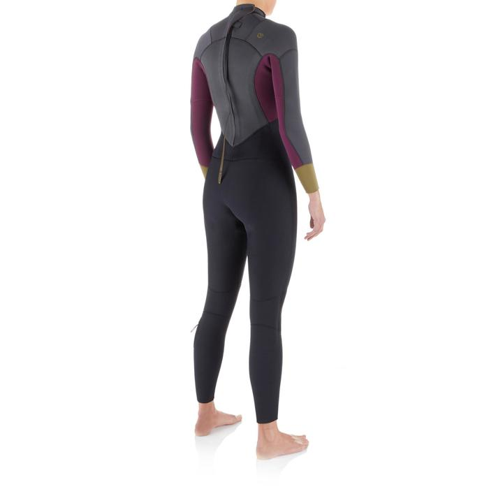 Traje Neopreno Integral Surf Olaian Mujer 4/3 Negro Gris Invierno