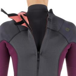 Neoprenanzug 500 Einteiler Surfen 4/3 Back Zip Damen