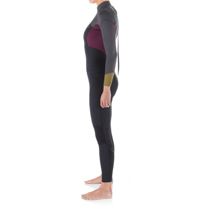 Fullsuit voor surf dames 4/3 500 back zip