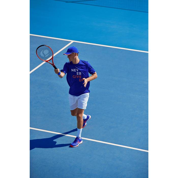T-shirt tennis heren soft 100 blauw