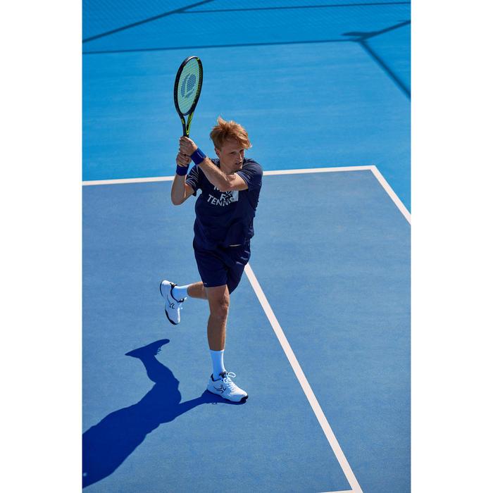T-shirt voor tennis heren Soft 100 marineblauw