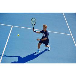 T-Shirt Soft 100 Tennisshirt Herren marineblau