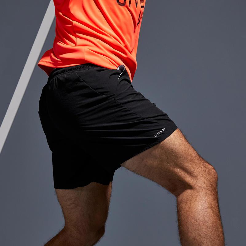 กางเกงเทนนิสขาสั้นรุ่น Dry 100 (สีดำ)
