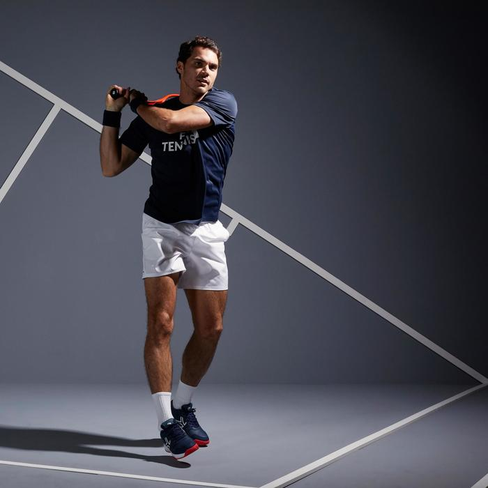 T SHIRT TENNIS HOMME SOFT 100 MARINE