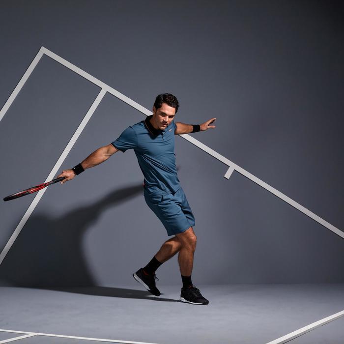 Tennis-Shorts Dry 500 Herren grau