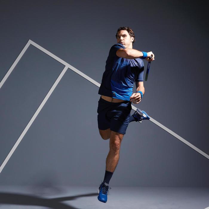 Tennispolo voor heren Dry 500 blauw graph
