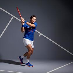 T-Shirt Soft 100 Tennisshirt Herren blau