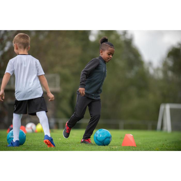 Trainingsjacke Fussball T100 Kinder schwarz