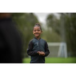 Veste d'entraînement de football enfant T100 noire