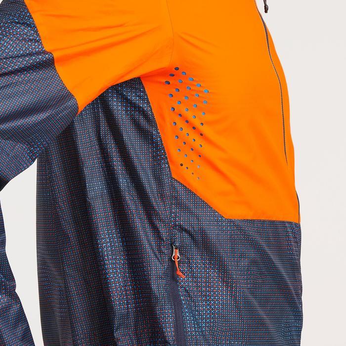 Jacke Speed Hiking FH500 Helium Herren orange/blau