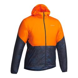 Jacke Speed Hiking FH500 Helium Herren orange/blau