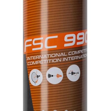 Воланы для бадминтона с перьевым оперением FSC 990 Speed 77 x 12 шт.