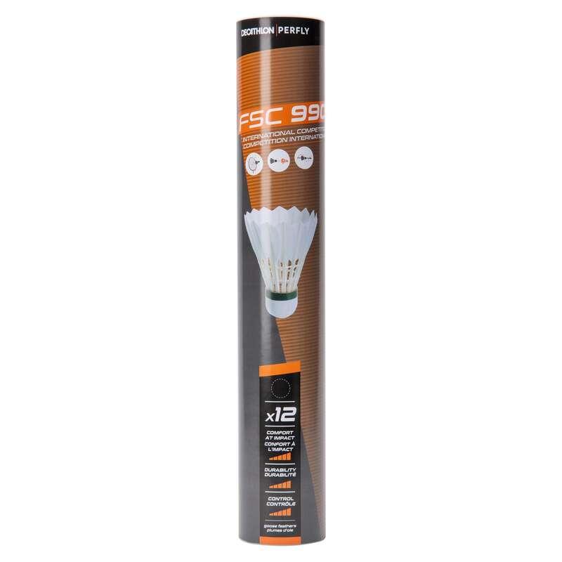 FEATHER SHUTTLECOCKS Sporturi cu racheta - Fluturaşi badminton FSC 990  PERFLY - Echipament badminton