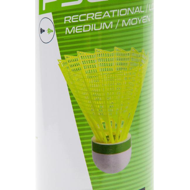 PLASTIC SHUTTLECOCK PSC 100 YELLOW X 6 MEDIUM