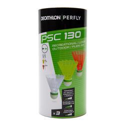 VOLANTES DE BÁDMINTON PERFLY PSC130 X3 EXTERIOR PLáSTICO