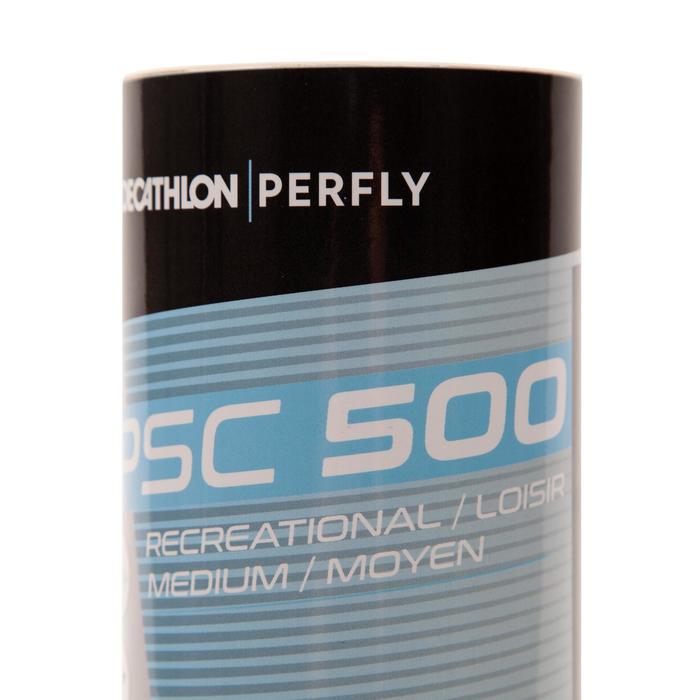 Plastik-Shuttlecock PSC 500 6er-Pack Medium weiß