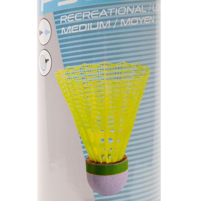 Volants De Badminton En Plastique PSC 500 x 6 - Jaune