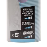PLASTIC SHUTTLECOCK PSC 500 MEDIUM X 6 YELLOW