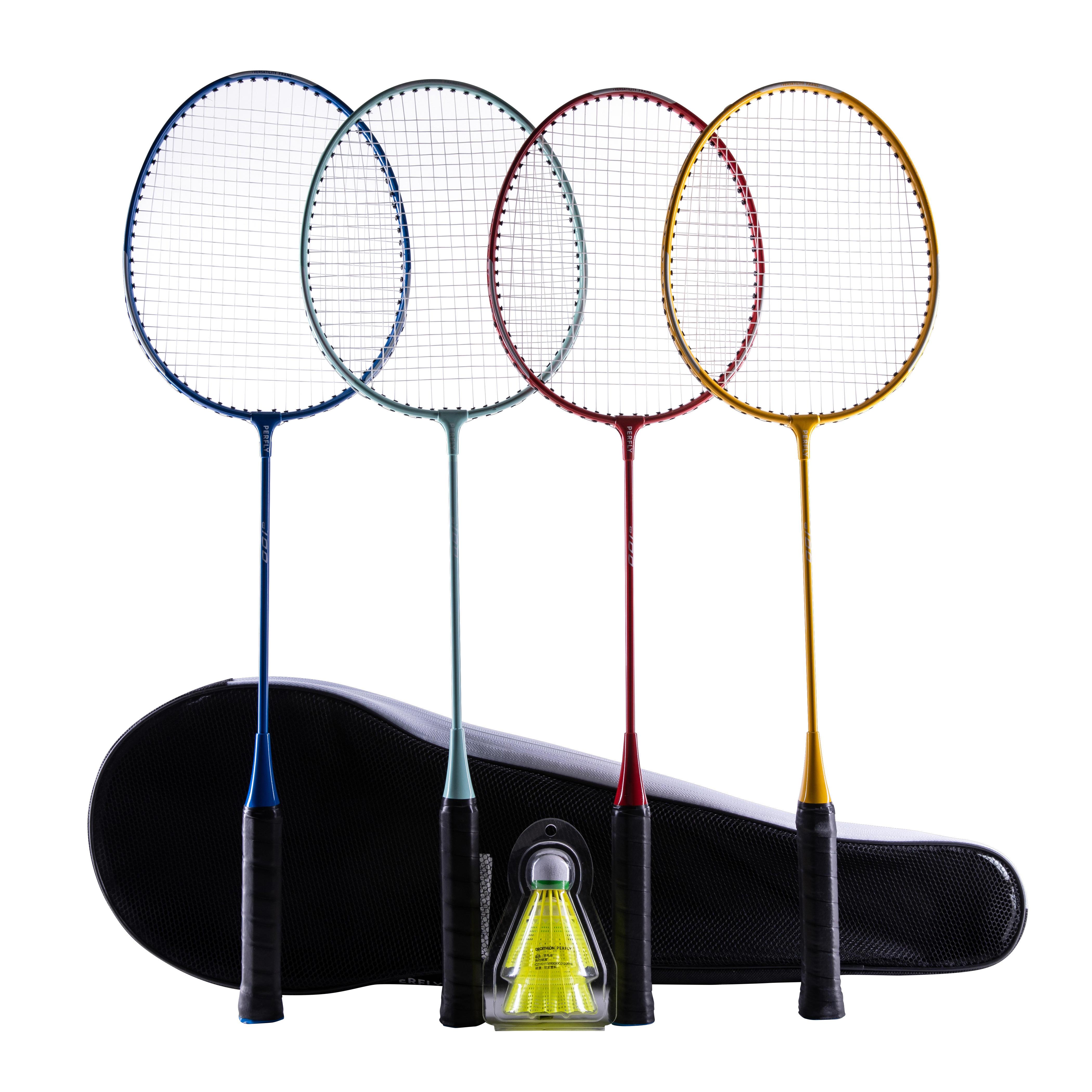 Schläger Sport Top Sport Badminton Set Mit 2 Schlägern Und 3 Kunststoff-federbällen Neu!!!