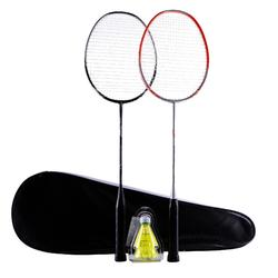 ADULT BADMINTON RACKET BR 190 SET PARTNER ORANGE DARK