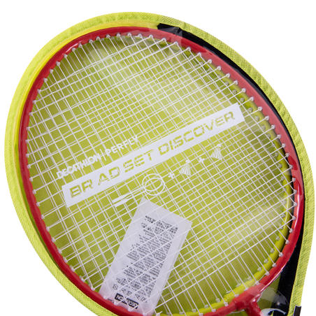 ADULT BADMINTON RACKET  BR AD SET DISCOVER  RED YELLOW