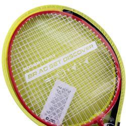Lot Découverte Raquettes Badminton Adulte BR AD - Rouge/Jaune