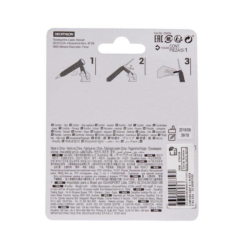 Comfort Badminton Grip Single-Pack - Black
