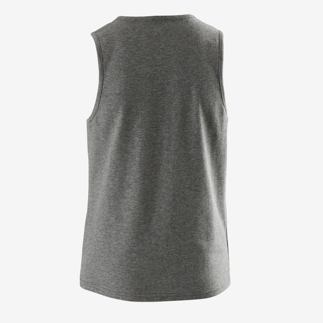 100 Boys' Gym Tank Top - Grey Print