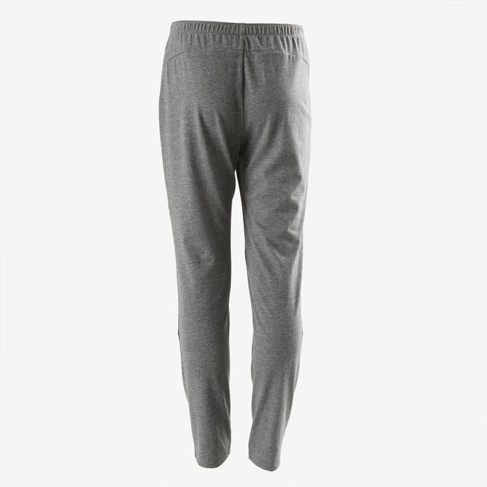 100 Boys' Regular-Fit Gym Bottoms - Mottled Grey