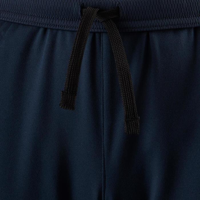 Trainingshose warm Synthetik atmungsaktiv S500 Gym Kinder marineblau