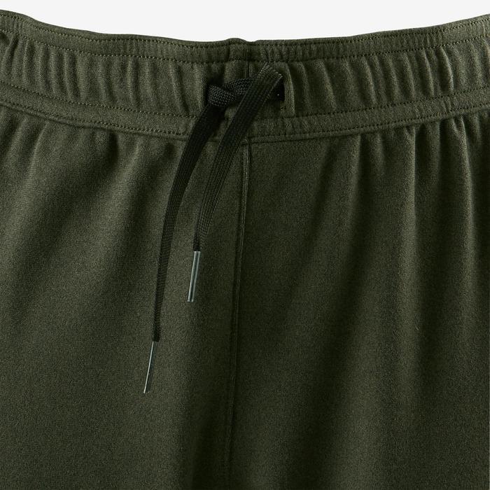 Pantalon chaud slim respirant S900 garçon GYM ENFANT kaki chiné