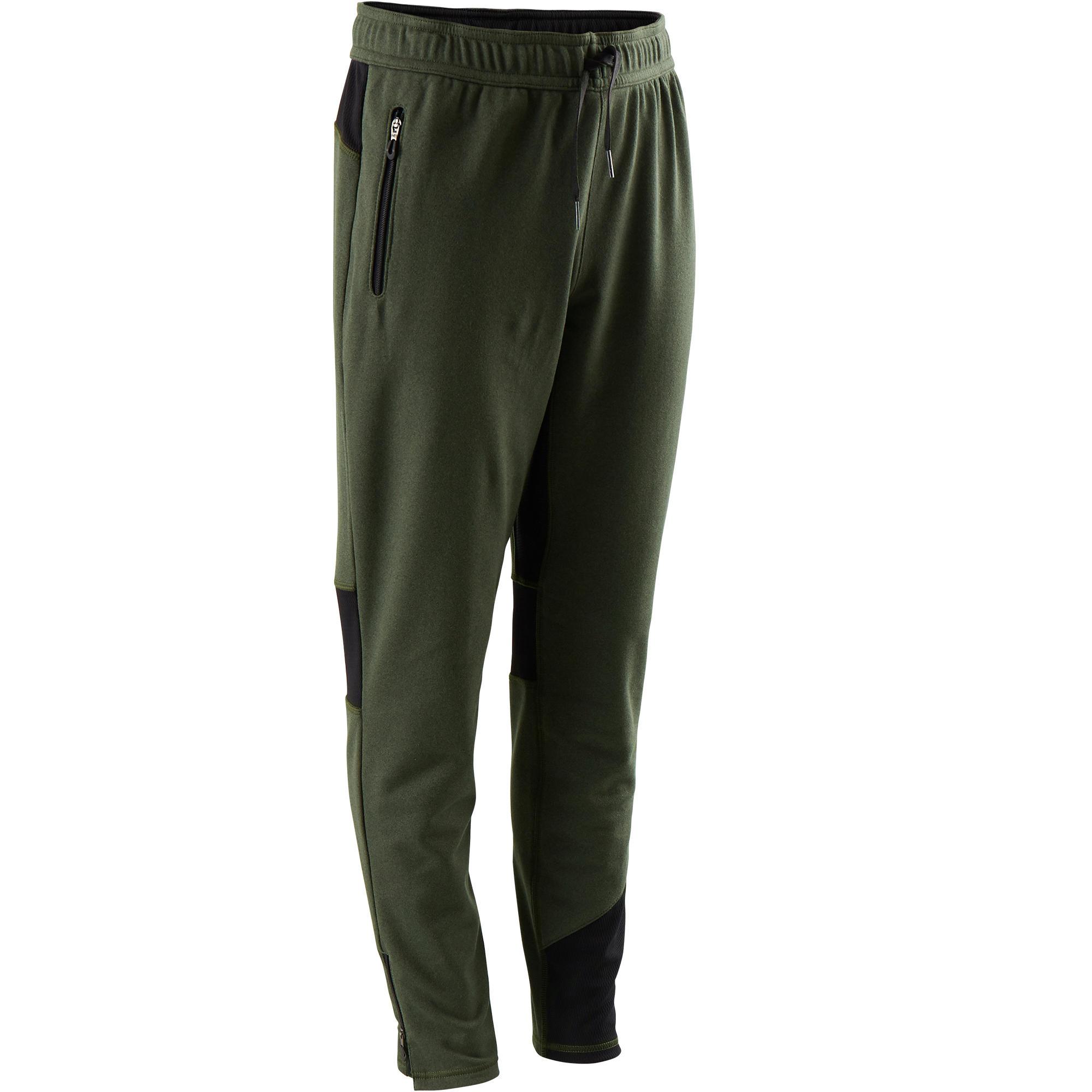 Pantalón cálido, slim transpirable S900 niño GIMNASIA JÚNIOR caqui jaspeado
