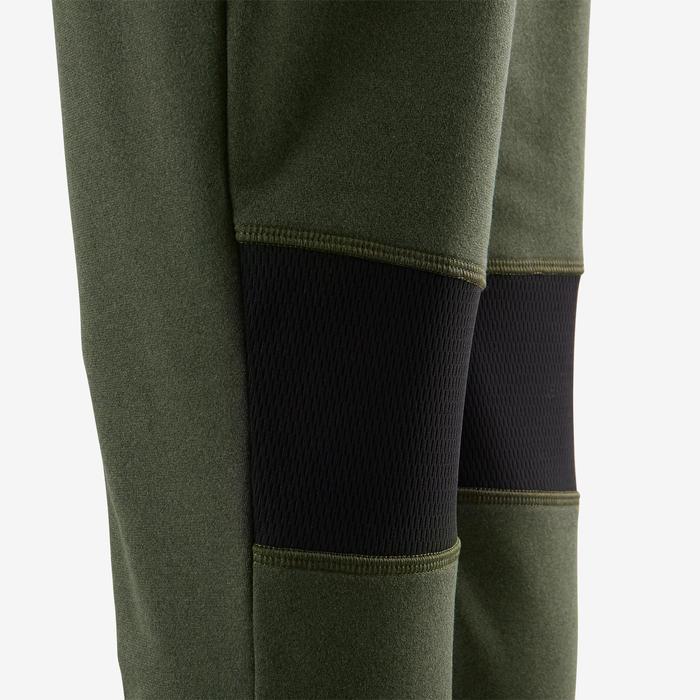 Warme ademende broek slim fit S900 jongens GYM KINDEREN gemêleerd kaki