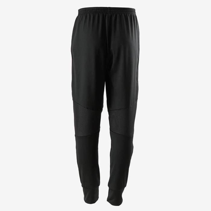 S500 Boys' Gym Lightweight Breathable Durable Synthetic Slim-Fit Bottoms - Black