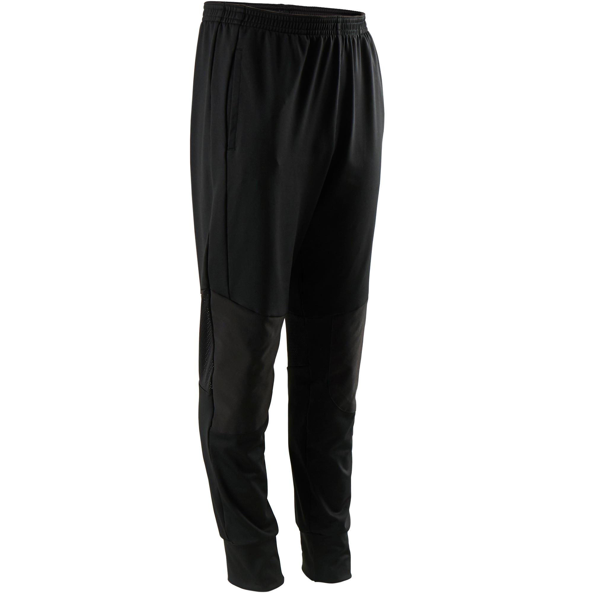 Pantalón sintético transpirable resistente slim ligero S500 niño GIMNASIA JR neg