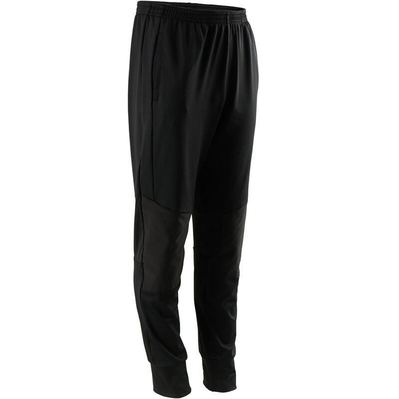 Pantalon de jogging léger large respirant noir ENFANT