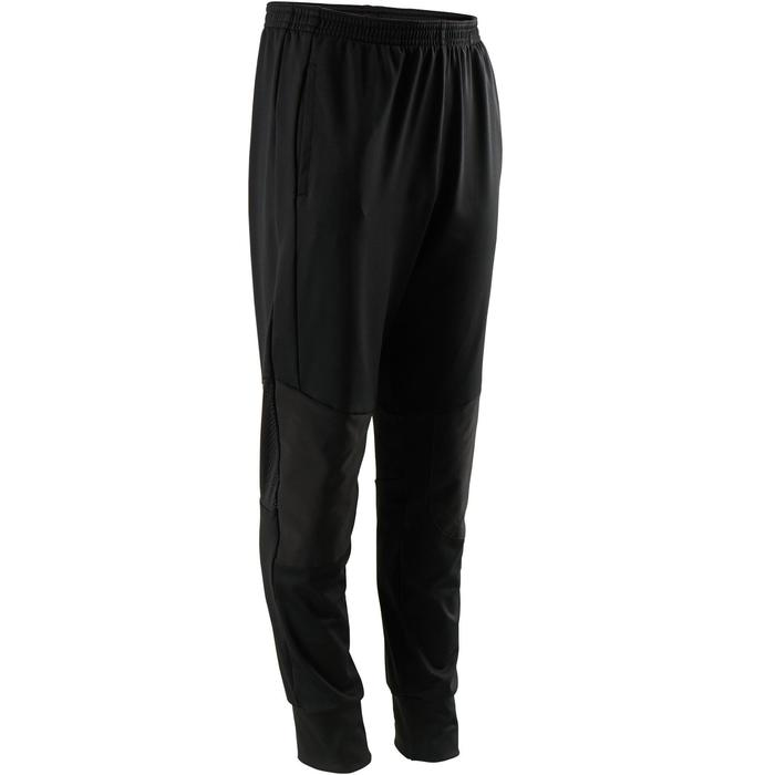 男童輕盈耐用透氣寬版剪裁合成健身長褲S500 - 黑色