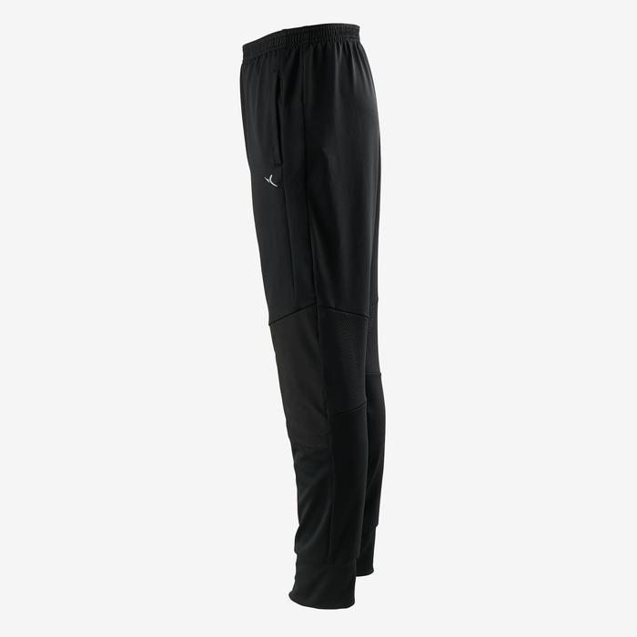 Pantalon large synthétique respirant,résistant léger S500 garçon GYM ENFANT noir