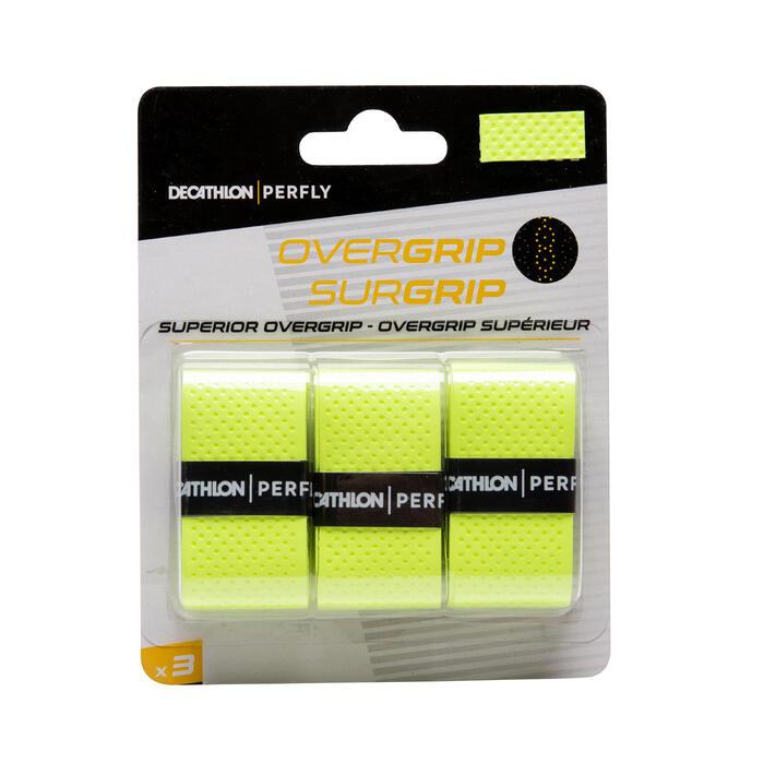 Griffband Superior Overgrip Badminton 3er Pack neongrün