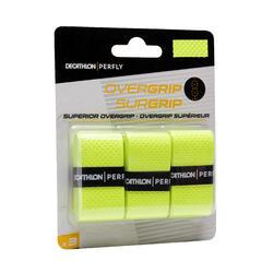 Surgrip de Badminton Supérieur x 3 - Vert Fluo