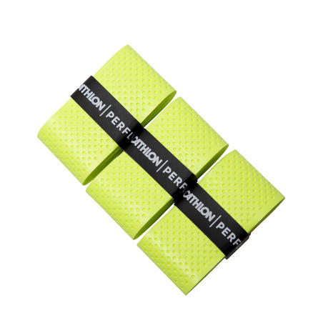 BADMINTON SUPERIOR OVERGRIP X 3 FLASH GREEN