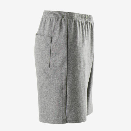100 Celana Pendek Gym Anak Laki-Laki- Abu-abu Gelap Berbintik