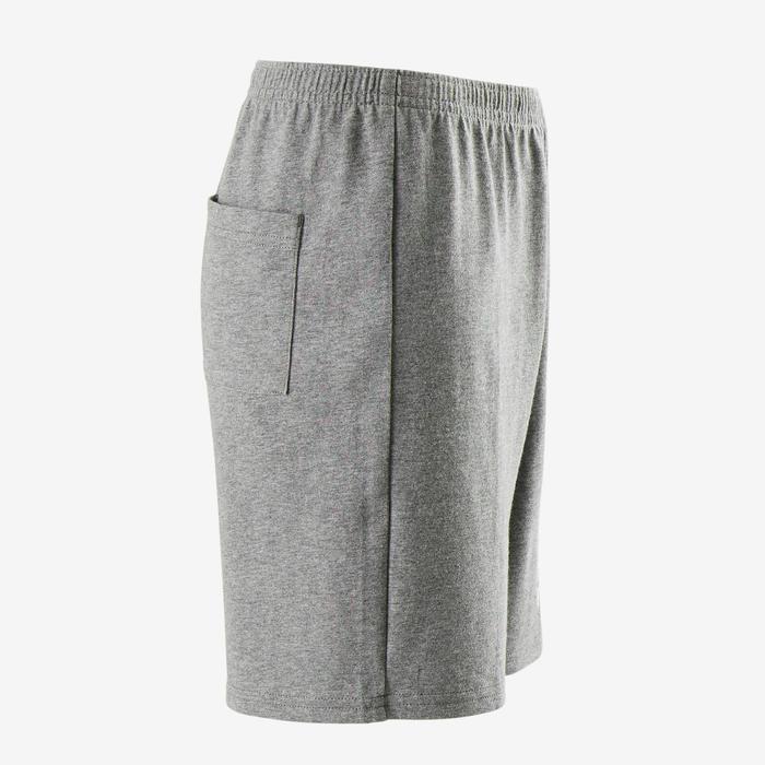 Short 100 garçon GYM ENFANT gris chiné foncé imprimé
