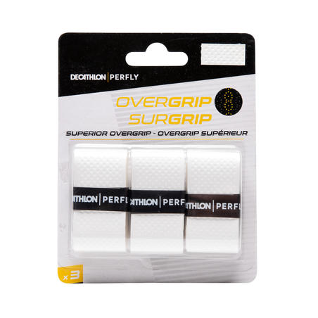 BADMINTON SUPERIOR OVERGRIP X 3 WHITE