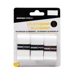 Badminton Griffband Overgrip Superior 3 Stk. weiß